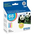 Epson 68 Color Ink Cartridges (T068520), High Yield 3/Pack