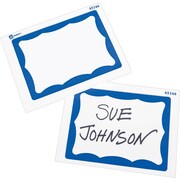 "Avery® Name Tag Label Pads, 2-7/16"" x 3-3/8"", Blue Border, 40/Pack"