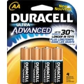 Duracell Ultra AA Alkaline Batteries, 4/Pack