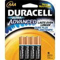Duracell Ultra AAA Alkaline Batteries, 4/Pack