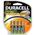 Duracell AAA Precharged Rechargeable Batteries, 4/Pack