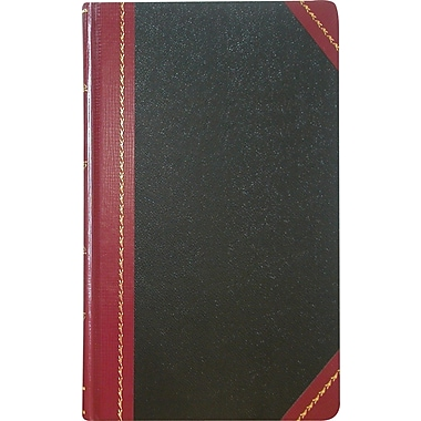 National® Brand Record & Account Books, Black Cover, 9-5/8