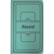 National® Brand Green Canvas Cover Record Book, 12-1/8 x 7-5/8, 300/Book