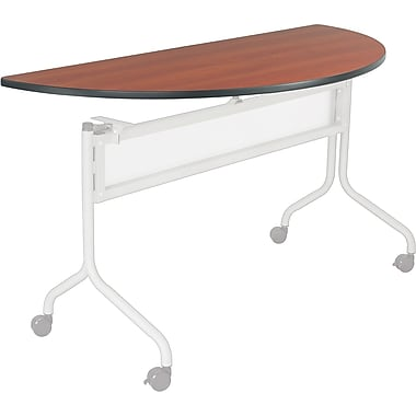 Safco® Impromptu™ 48in. Half Round Mobile Training Table, Cherry