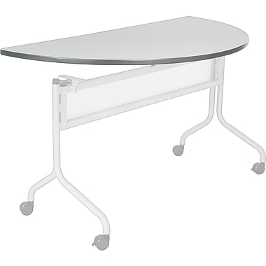 Safco® Impromptu™ 48in. Half Round Mobile Training Table, Gray