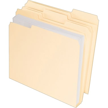 Pendaflex® Double Stuff® File Folders, Letter Size, 3 Tab, Manila, 50/Box (54459)