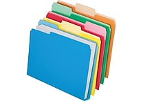 Pendaflex® Double Stuff™ Colored File Folders, Letter, 3 Tab, 50/Box