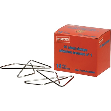 Staples® #1 Size Ideal Paper Clamps