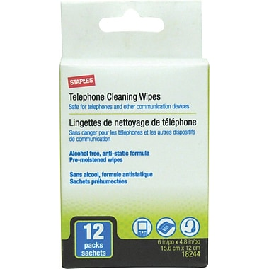 Staples Phone Wipes Anti Static 12/Pack