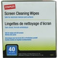 Staples Screen Cleaning Wipes 40/ Twin Pack