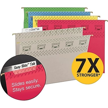 Smead TUFF® Hanging File Folders with Easy Slide™ Tabs