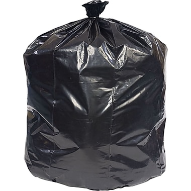 Brighton Professional Linear Low-Density Trash Bags, Black, 33 Gallon, 250 Bags/Box