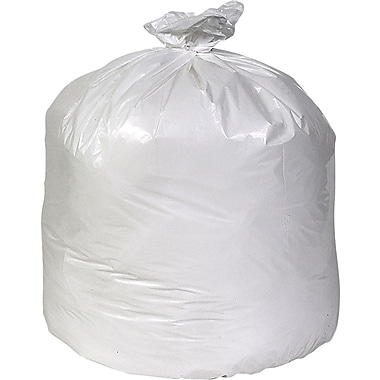 Brighton Professional Linear Low-Density Trash Bags, White, 60 Gallon, 100 Bags/Box