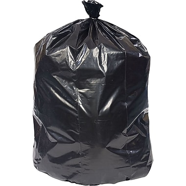 Brighton Professional Linear Low-Density Trash Bags, Black, 56 Gallon, 100 Bags/Box