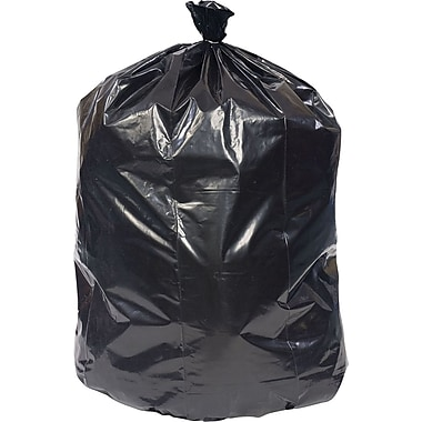 Brighton Professional Super Heavy Recycled Content Trash Bags, Black, 56 Gallon, 100 Bags/Box