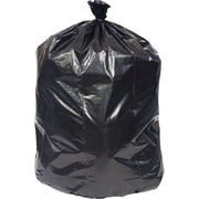 Brighton Professional Recycled Content Trash Bags, Super Heavy, Black, 56 Gallon Capacity, 100 Bags/Box (18209)
