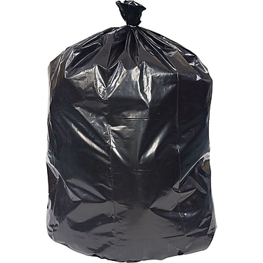 Brighton Professional Super Heavy Recycled Content Trash Bags, Black, 60 Gallon, 100 Bags/Box