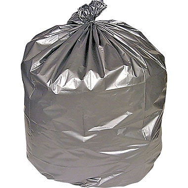 Brighton Professional Premium Linear Low-Density Trash Bags, Silver, 33 Gallon, 100 Bags/Box