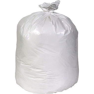 Brighton Professional Linear Low-Density Trash Bags, White, 40-45 Gallon, 100 Bags/Box
