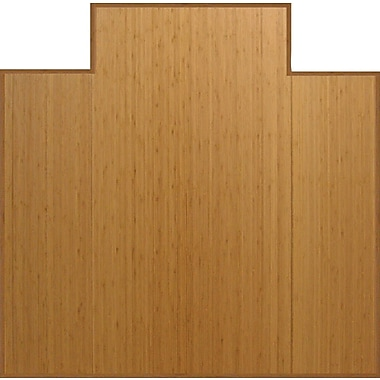 Anji Mountain Tri-Fold Bamboo Chair Mat, Standard Lip, 47in. x 51in., Natural