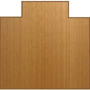 Anji Mountain Tri-Fold 51''x47'' Bamboo Chair Mat for Carpet, Rectangular w/Lip, Natural (AMB0500-1002)