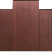 Anji Mountain Tri-Fold Bamboo Chair Mat, Standard Lip, 47in. x 51in., Dark Cherry