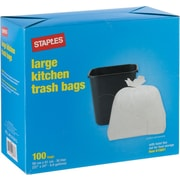 Staples® Large Kitchen Garbage Bags, 100-Pack