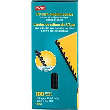 Staples® Plastic Binding Combs, 3/8