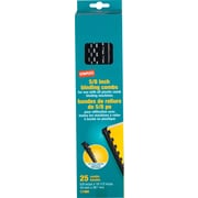 "Staples Plastic Comb Binding Spines, 5/8"" Diameter, 120 Sheets, 25/Pack, Black (17465)"