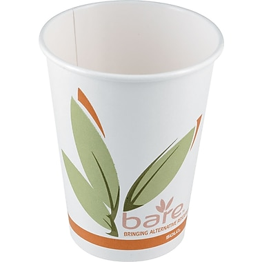 SOLO Bare Eco Forward Recycled Content PCF Paper Hot Cup, 8 oz., 1,000/Case