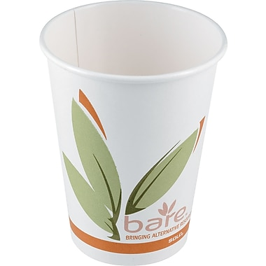 SOLO Bare Eco Forward Recycled Content PCF Paper Hot Cup, 12 oz., 50/Pack