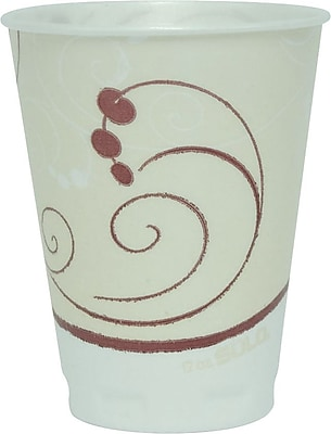 Solo Symphony Styrofoam Hot & Cold Cups, 12 Oz., Design, 300/Ct 916000