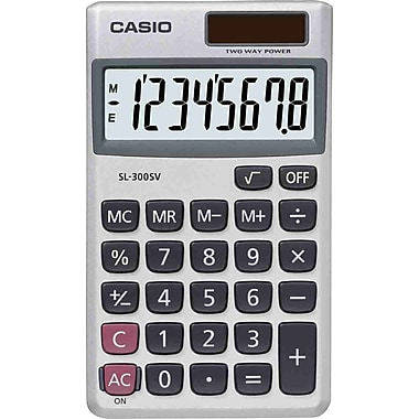 Casio® SL300SV 8-Digit Display Calculator
