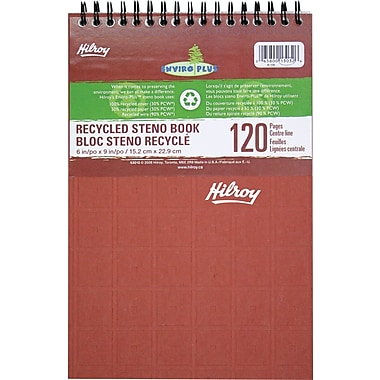 Hilroy Enviro-Plus Recycled Steno Notebook, 6