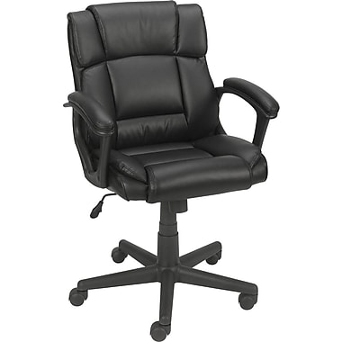 Staples® Montessa™ Luxura Managers Chair, Black