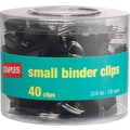 Staples Small Metal Binder Clips, Black, 3/4in. Size with 3/8in. Capacity