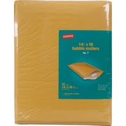 "Staples® Bubble Mailers, #7, Golden Brown, 14 1/2""H x 20""W, 12/Dz"