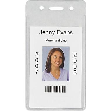 Staples® ID Badge Holders, Vertical, 50/Pk