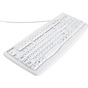 Kensington 64406 Washable USB PS/2 Keyboard with Antimicrobial Protection, White