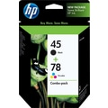 HP 45/78 Black and Tri-color Ink Cartridges (C8788BN), Combo 2/Pack