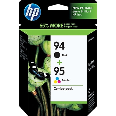 HP 94/95 Black and Tricolor Ink Cartridges (C9354BN), Combo 2/Pack