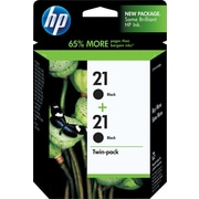HP 21 Black Ink Cartridges (C9508BN), Twin Pack