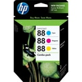 HP 88 Color Ink Cartridges (CC606FN), Combo 3/Pack