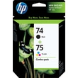 HP 74/75 Black and Tri-color Ink Cartridges (CC659FN), Combo 2 Pack