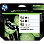 HP 94/94/95 Black and Tricolor Ink Cartridges (CD943FN),