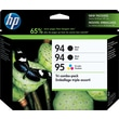 HP 94/94/95 Black and Tricolor Ink Cartridges (CD943FN), Combo 3/Pack