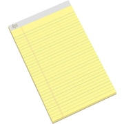 "Diversity Products Solutions by Staples® Legal-Ruled Writing Pads, Wide, Canary, 8 1/2"" x 14"", 50 Sheets/Pad, 12/Pk"
