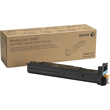 Xerox® 106R01317 Cyan Toner Cartridge, High Yield
