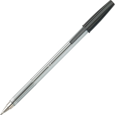 Staples® Stick Ballpoint Pen, 0.7 mm Fine, Black