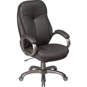 Office Star™ Work Smart Bonded Leather Executive 2 High-Back, Espresso